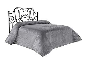 法兰绒毛毯 灰色 两个