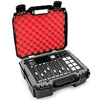 Casematix 工作室混音器硬壳适合 Rode RODECaster Pro Podcast 生产工作室和配件,红色填充泡沫保护