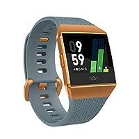 Fitbit 健身 智能手表 iONIC 心率 * 个人角落 配备GPS 耐水性能FB503CPBU-CJK 石板蓝色/橙红色
