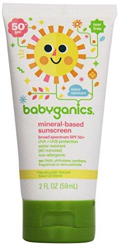 BabyGanics (甘尼克宝贝) - 遮光剂矿物根据宽广的Spectrum芬芳自由 50 SPF - 2盎司美国直邮【亚马逊海外卖家】