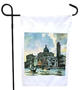 Rikki Knight 约翰·辛格·萨金特艺术宫殿实验室、威尼斯之家或花园旗帜,27.94 x 27.94 cm 图像,30.48 x 45.72 cm