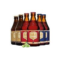 智美 精酿啤酒组合6瓶装 比利时进口 口味组合可选 (智美蓝帽2瓶+红帽2瓶+金帽2瓶)