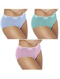 期间内裤:潮流女士低腰三角裤,浅中放电 - 半身内裤