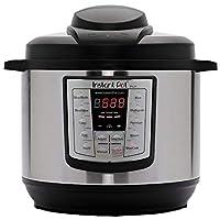 Instant Pot LUX60V3 V3 6夸脫/約5.676升 6合1多用途可編程高壓鍋,慢燉鍋,電飯煲,炒鍋,蒸鍋和加熱器 需配變壓器