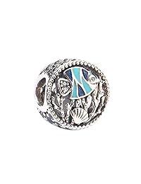 Pandora 潘多拉 丹麦品牌 海底世界925银+珐琅串饰 792075ENMX