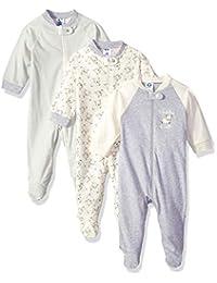 Gerber 嘉宝 婴儿款3件装可n次使用的睡衣,婴幼儿紧身衣紧身裤,可爱的绵羊印花,适合6-9个月的人群