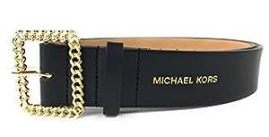 Michael Kors 迈克高仕黑色皮带 精致金色链扣