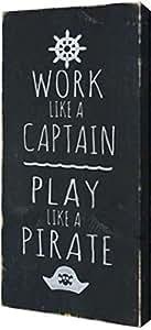 "PrintArt GW-POD-48-HT1064-9x20""Pirate"" 由 Holly Stadler 创作画廊装裱艺术微喷油画艺术印刷品 17"" x 36"" GW-POD-48-HT1064-17x36"