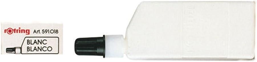rOtring Isograph 技術繪畫筆,液體墨水,23 毫升,黑色 23 ml 白色