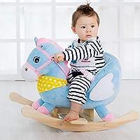 木马智慧 会唱歌的摇摇马 婴幼周岁儿童送礼玩具柔软短绒舒适 32首安抚儿歌毛绒布绒摇马