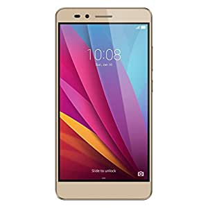 华为荣耀 5X 解锁智能手机 - 金色 16GB(美国保修)HUAWEI HONOR 5X 仅限手机 Phone Only 日落金色