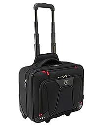 Wenger 威戈 600664 可扩展轮式笔记本电脑公文包,带iPad /平板电脑的加垫笔记本电脑包/黑色电子阅读器口袋{18 升}