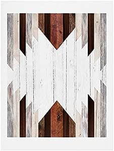 Deny Designs Iveta Abolina Geo Wood 2 艺术印刷品,20.32 厘米 x 25.4 厘米,棕色