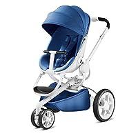 Quinny 酷尼 Moodd 高景观婴儿推车,双向可坐可躺,轻便可折叠带自动展开功能,适合0-4岁,天空蓝/白框