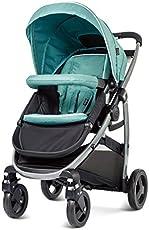 美国 Graco 葛莱 慕驰系列 婴儿推车 6AL99SEPN孔雀绿 (适合0-3岁,3段脚踏板调节,4段椅背调节,9种推行方式,单手收合,超大置物篮,万向轮锁定,配备雨罩脚套座椅可双向调节)