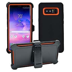 手机套 [M021] - 三星 Note 8 Black/Orange