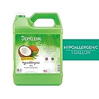 TropiClean 宠物洗发水,美国制造 透明 1 加仑