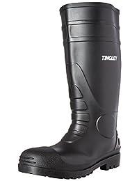 Tingley Men's Economy PVC Knee Plain-Toe Work Boot 黑色 11 M US
