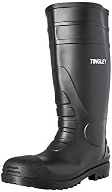 Tingley Men's Economy PVC Knee Plain-Toe Work Boot 黑色 7 D(M) 美国