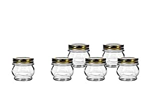 Global Amici Orto Canning Glass Jar with Lid - 5.5 oz. - Set of 6 透明 5.5 Ounce