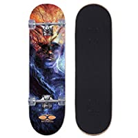 Movendless YD-0018 完整滑板 78.74 厘米,7 层枫木双踢凹面滑板板