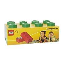 LEGO Storage Brick 8 把手,可堆叠收纳盒,12 升 绿色