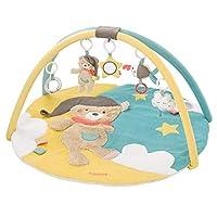 Fehn 060256 3D 活动垫 婴儿爬行垫 Bruno 系列 玩具曲杆 配 5 个可拆卸的玩具 婴儿玩乐用 出生起适用 尺寸 直径 85 厘米