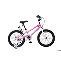 ROYALBABY 优贝 18寸儿童自行车表演车粉色5-9岁萌宝礼物(亚马逊自营商品, 由供应商配送)