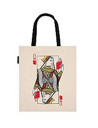 Out of Print 文学和书籍主题帆布手提包适用于书籍爱好者、阅读者和书籍