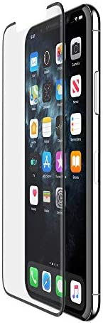 Belkin ScreenForce 钢化玻璃屏幕保护膜,轻松对齐F8W943zzBLK Tempered Glass Premium Edge to Edge (Black) iPhone 11 Pro/XS/X