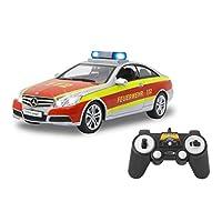 Jamara 405127 梅赛德斯-奔驰 E 350 Coupe 消防车 Unisex-Kinder Feuerwehr Silber/Rot
