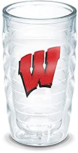 Tervis Wisconsin University Emblem Individual Tumbler, 10 oz, Clear