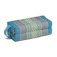 Kapok Dreams Block 垫子带手柄/绑带,瑜伽和冥想道具,* 天然 Kapok 填充物(天然植物纤维),天蓝色。