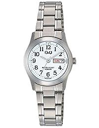 [西铁城 Q&Q]CITIZEN Q&Q 手表 不锈钢款 指针式 手镯式 10气压防水 白色 W473-204 女款