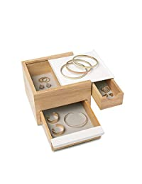 umbra 配件收纳 STOWIT JEWELRY BOX (Storyet 珠宝盒) 自然色 Mini 1005314-390