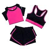 春夏女瑜伽服运动套装 短裤跑步文胸显瘦 健身服