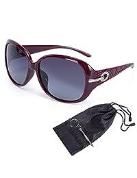 motine 女式墨镜经典超大偏光太阳镜100% 防紫外线