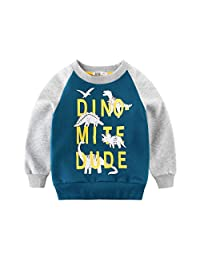 Maygold Little Boys Pajamas Dinosaur Toddler Short Clothes Set 100% Cotton Kids Sleepwear PJS 1-7 Years