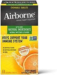 Schiff 旭福 Airborne 維生素C混合 橙味咀嚼片 Airborne (1盒64粒)