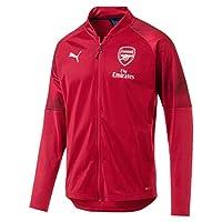 PUMA 男士阿森纳足球俱乐部体育场夹克赞助商标志带拉链口袋训练夹克