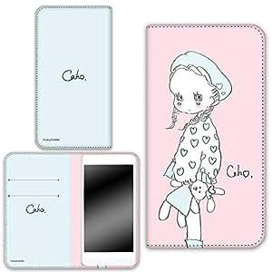 caho 保护套双面印花翻盖毛绒玩具和小女孩手机保护壳翻盖式适用于所有机型  ぬいぐるみと少女C 2_ Xperia XZ 601SO