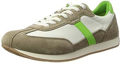 Geox Men's U Vinto D Low-Top Sneakers Beige (Beige/limec5236) 6.5 UK