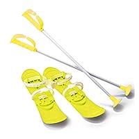 Jamara 460383 – 雪地玩滑稽滑稽 1st step 42厘米黄色 – 空气动力学结构,滑雪短裙 60 厘米,*/可调节的固定环尺寸 (23-28),滑雪袜 60 厘米,防滑铆钉
