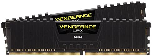 Corsair 海盗船 复仇者系列 LPX16GB(2x8GB)DDR4 DRAM 3000MHz(PC4-24000)C15 内存条套装- 黑(CMK16GX4M2B3000C15)