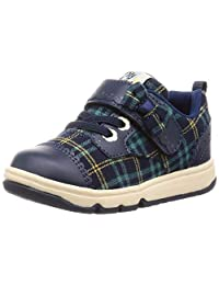 Carrot 运动鞋 学生鞋 4大功能 魔术贴 15厘米~19厘米 儿童 CR C2250 藏青色 18.0 cm 2E