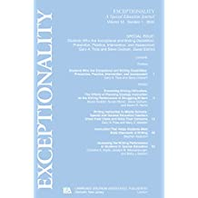 Students Who Are Exceptional and Writing Disabilities: Prevention, Practice, Intervention, and Assessment:a Special Issue of exceptionality (English Edition)