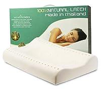 ECOLIFELATEX 伊可莱 泰国进口 天然 乳胶枕 高低枕 护颈枕 PT3S(平滑低款8-10cm) [新老包装交替 随机发货](亚马逊自营商品, 由供应商配送)