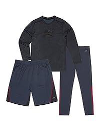 New Balance 男童长袖 T 恤,短裤和紧身套装