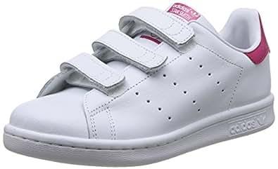 adidas Originals kids 阿迪达斯三叶草 ORIGINALS KIDS 女童 休闲运动鞋STAN SMITH CF C B32706 白/白/醒目粉 内长:165mm (UK 10k)