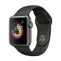Apple Watch Series 3 智能手表 38mm GPS 深空灰色铝金属表壳 灰色运动型表带 MR352CH/A